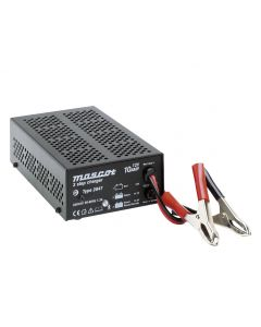 Mascot 2047 12V/10A 3-step Switch Mode SLA Battery Charger with timer, fixed UK plug