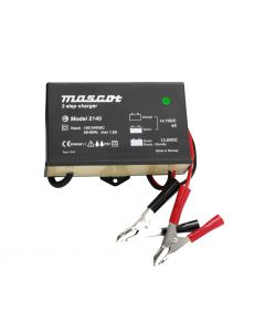 Mascot 2140 24V/2A 3-Step SLA Battery Charger with timer, IP67, fixed EU mains lead