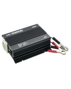 Mascot 2284 150W 24V DC to 230V AC Inverter with EU Socket/Battery Clips and Pure sine wave output