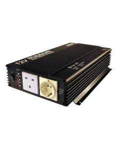 Mascot 2387 1000W 12V DC to 230V AC Inverter with both an EU Socket And UK Socket