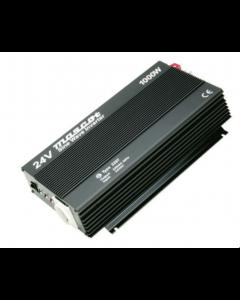 Mascot 2387 1000W 24V DC to 230V AC Inverter with both an EU Socket And UK Socket