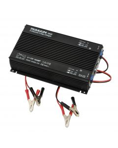 Mascot 2640 12V/2x10A Dual Output 3-Step SLA Battery Charger with timer, fixed EU mains lead