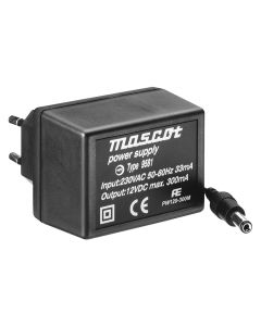 Mascot 9581 12V DC, 3.6W AC/DC Linear power supply with EU plug