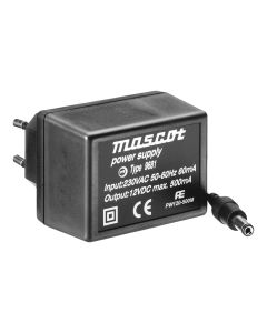 Mascot 9681 12V DC, 6W AC/DC Linear power supply with UK plug