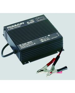 Mascot 9840 24V/2.5A 3-Step SLA Battery Charger with timer, fixed EU mains lead