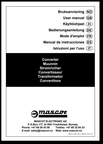 Converters User Manual