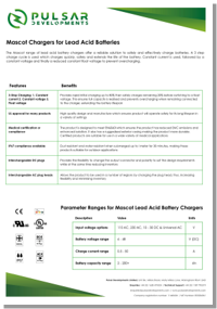 Lead Acid information sheet